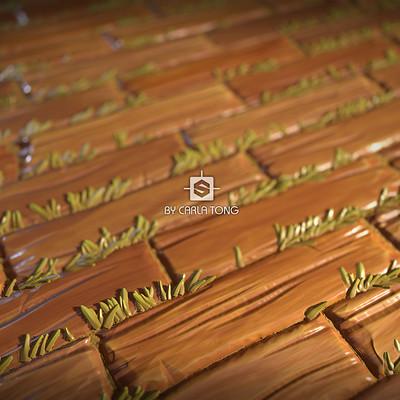 Carla tang substance wood board wallpaper