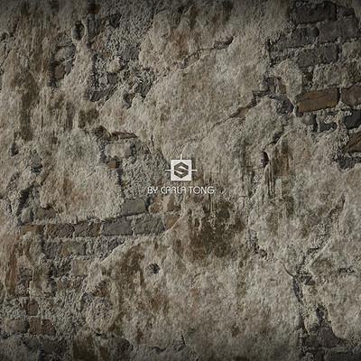 Carla tang substance broken wall wallpaper 03