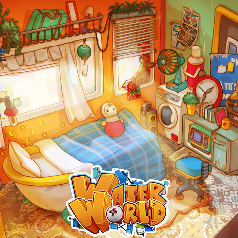 WaterWorld - Mee's Room Final Design