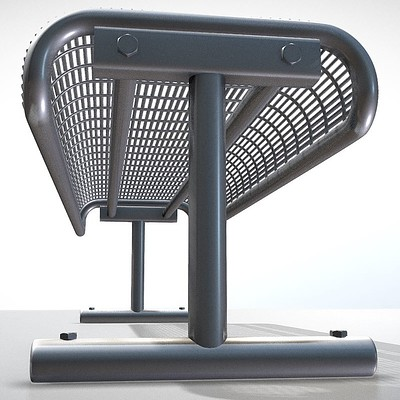 Dennis haupt modern metal lattice bench 9
