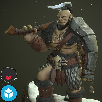 Nordic Orc Warrior - Game Model