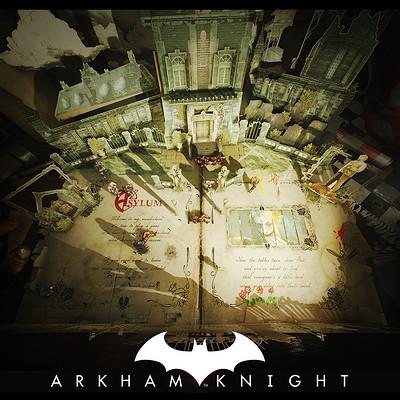 0e3fe0b8d193f Batman Arkham Knight - Mad Hatter popup book - Arkham Asylum