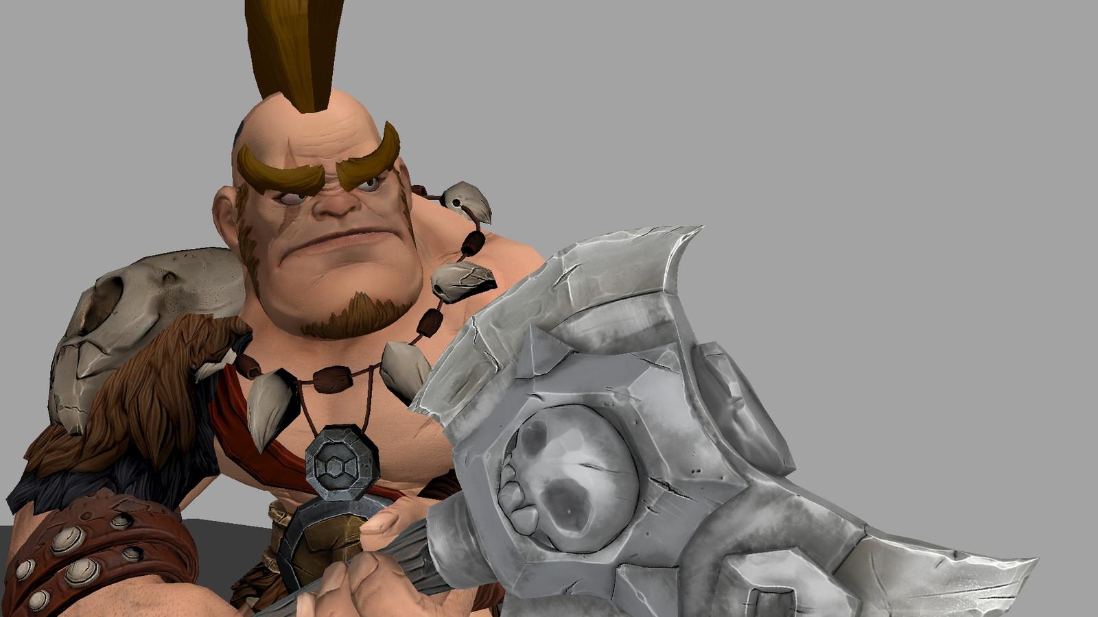 Conan - Axe hit animation