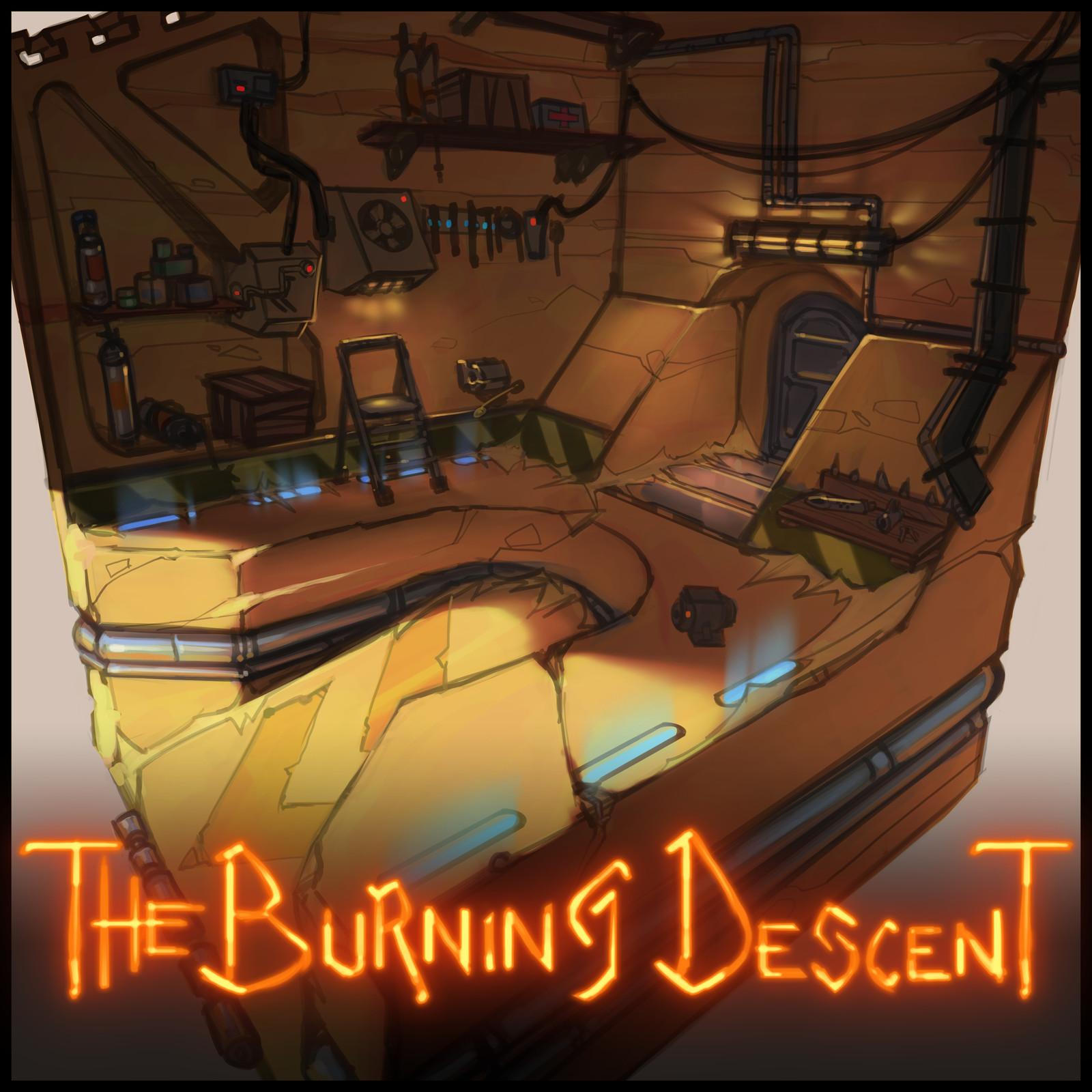 The Burning Descent | ConceptArt Stuff