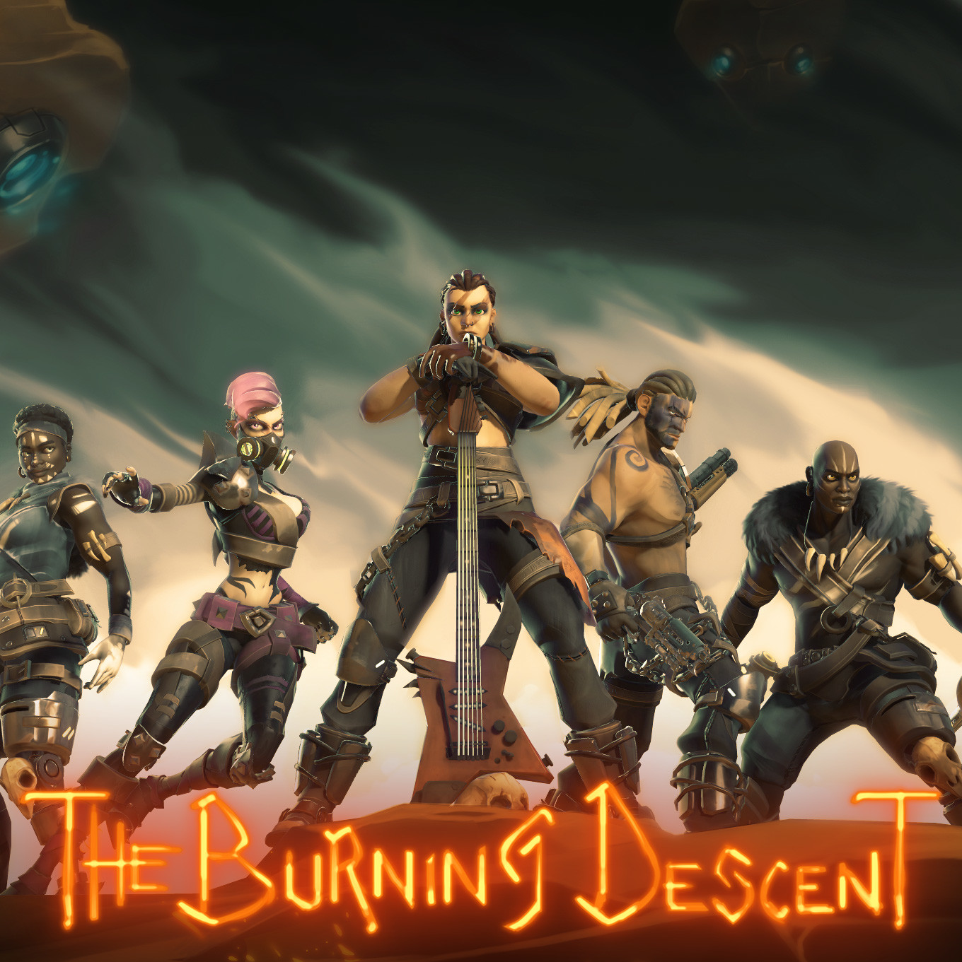 The Burning Descent | Character's LineUp