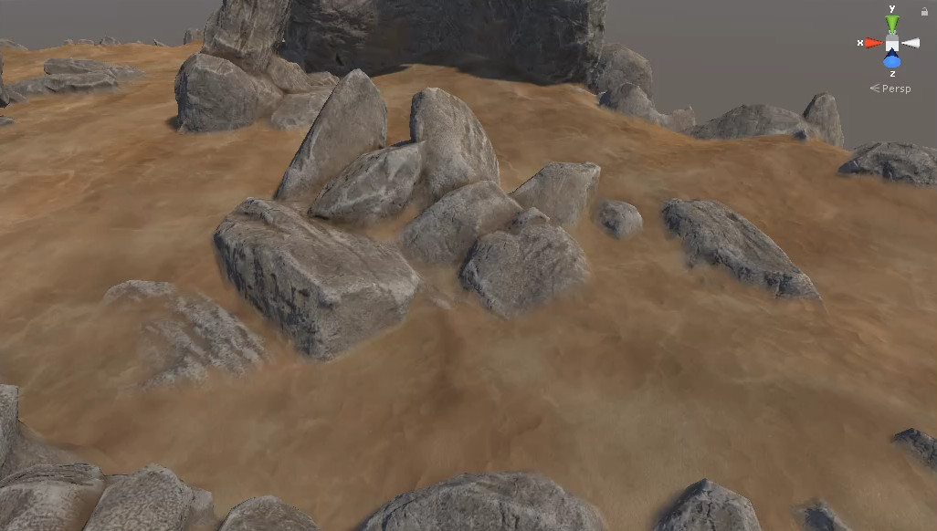 ArtStation - Mesh Blend with Terrain shader for Unity