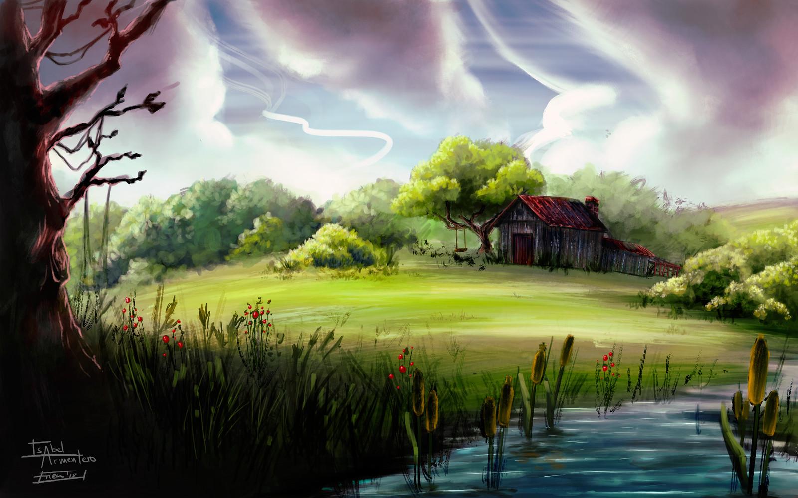 Landscape #05 + Thumbnail process