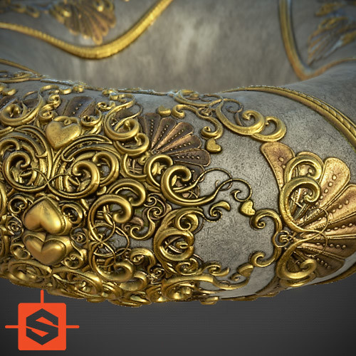 Golden Love - Substance Designer Ornaments