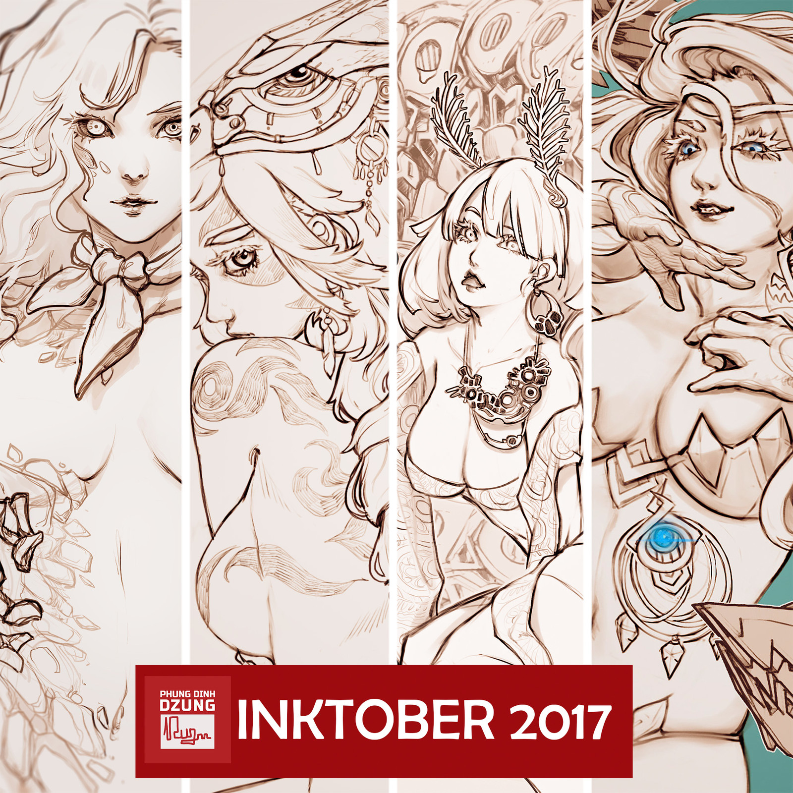 Inktober 2017 Collection