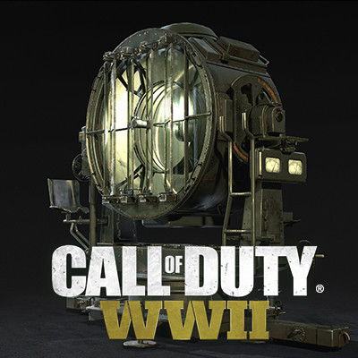 Call of Duty: World War II Flak Tower Ger Searchlight Prop
