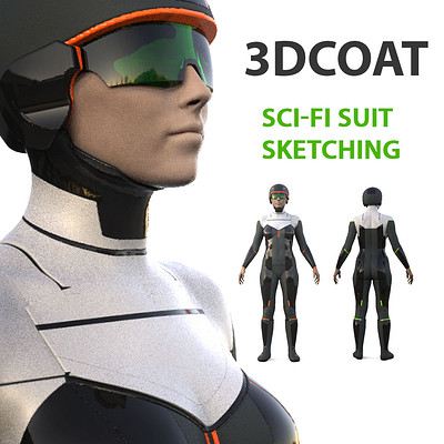 Anton tenitsky 3d coat sci fi suit sketch artstation