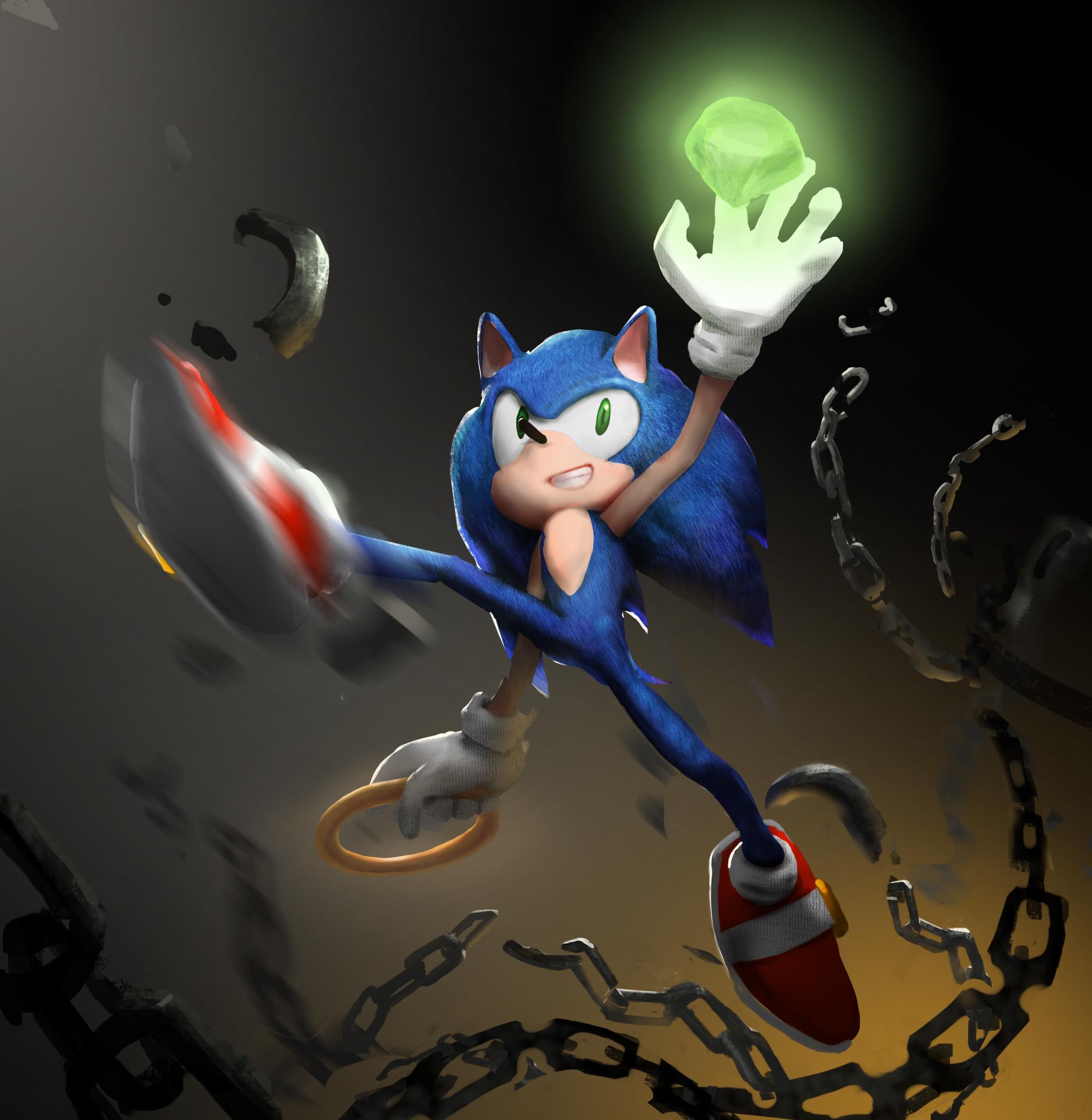 Artstation Sonic The Hedgehog Fanart Zoewings Zhang
