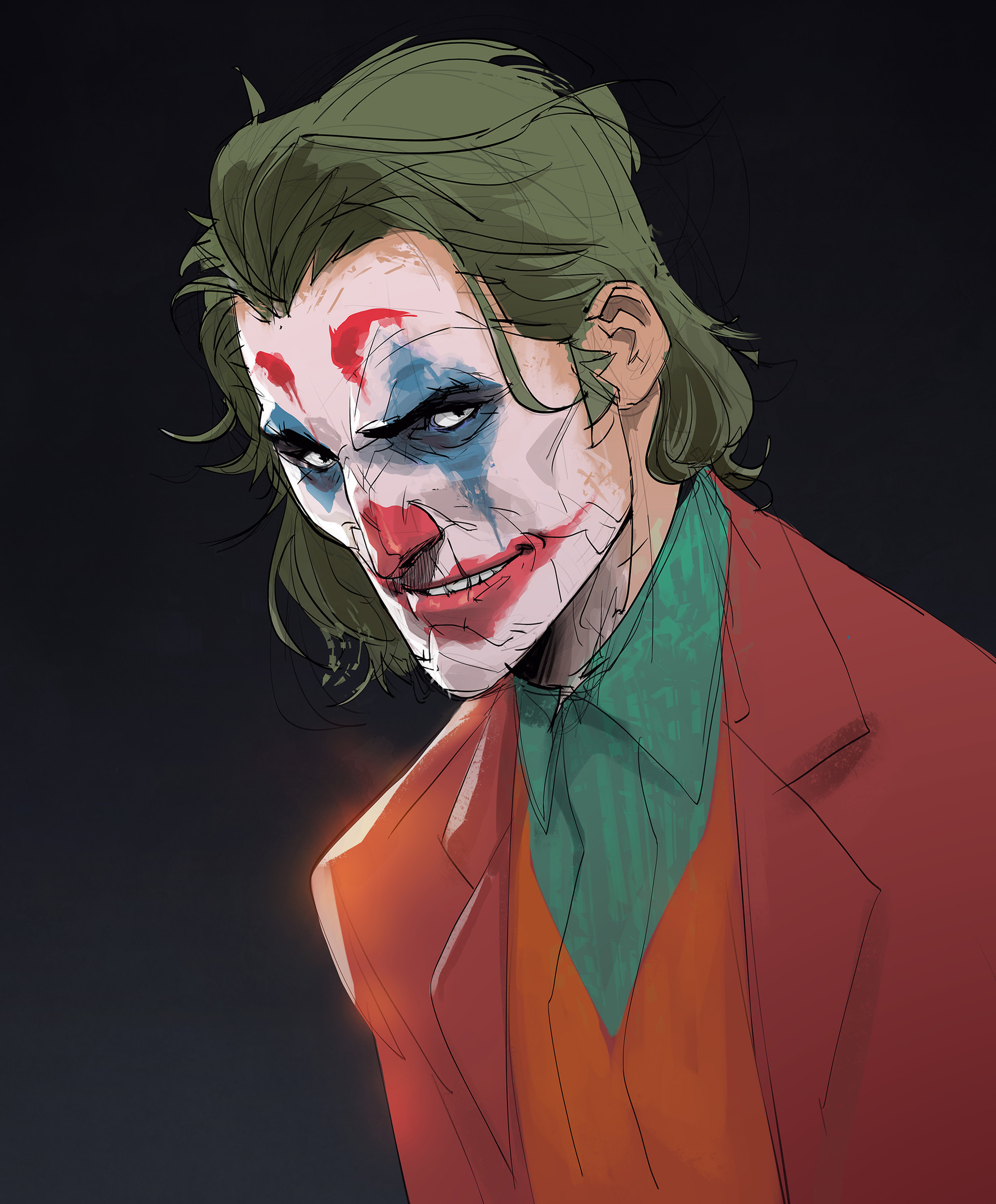 Artstation Joaquin Phoenix Joker Hicham Habchi