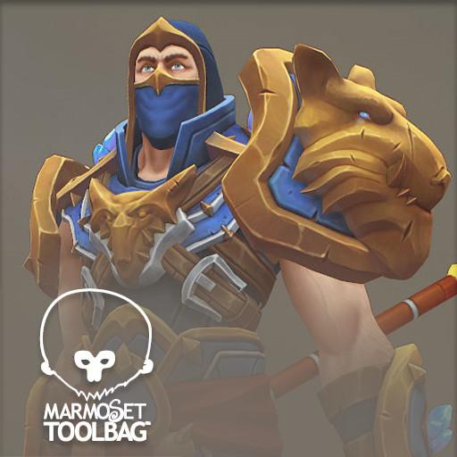 Golden wolf armor