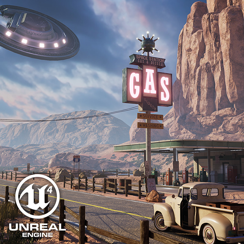 Roswell, 1947 - Unreal 4 Environment