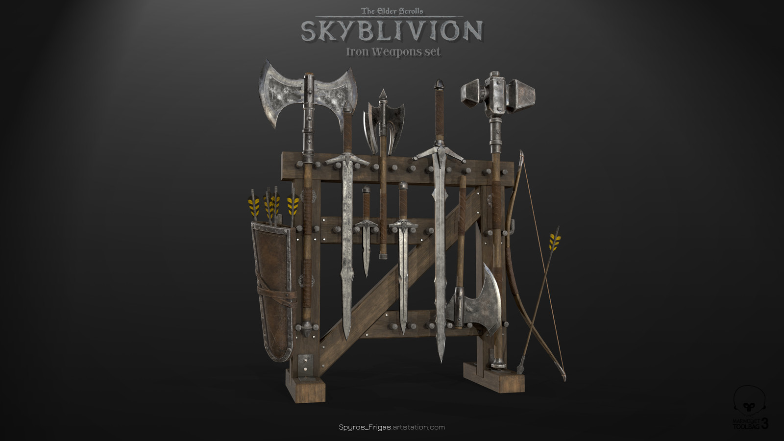 Iron Weapons Set Display (Elder Scrolls:Skyblivion)