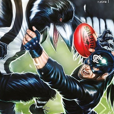 Game Day Giveaway Poster for the Carlton Football Club.