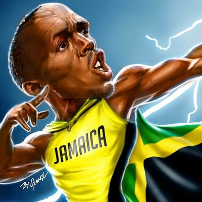 Usian Bolt Caricature For William Hill Social