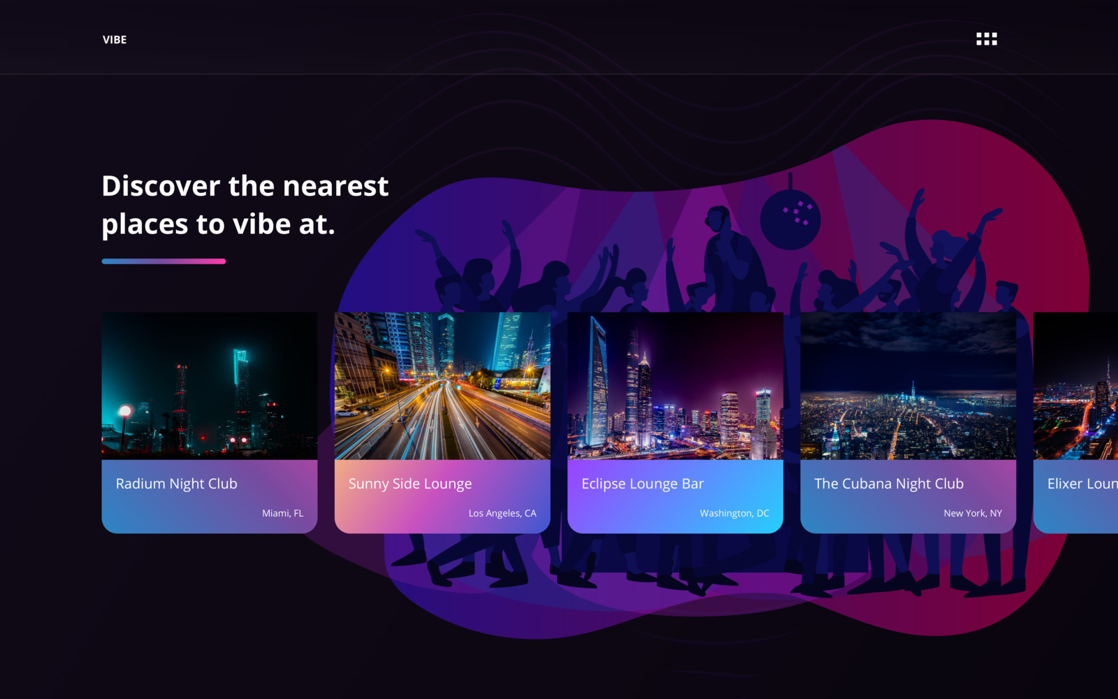 VIBE | Logo & Web UI Design