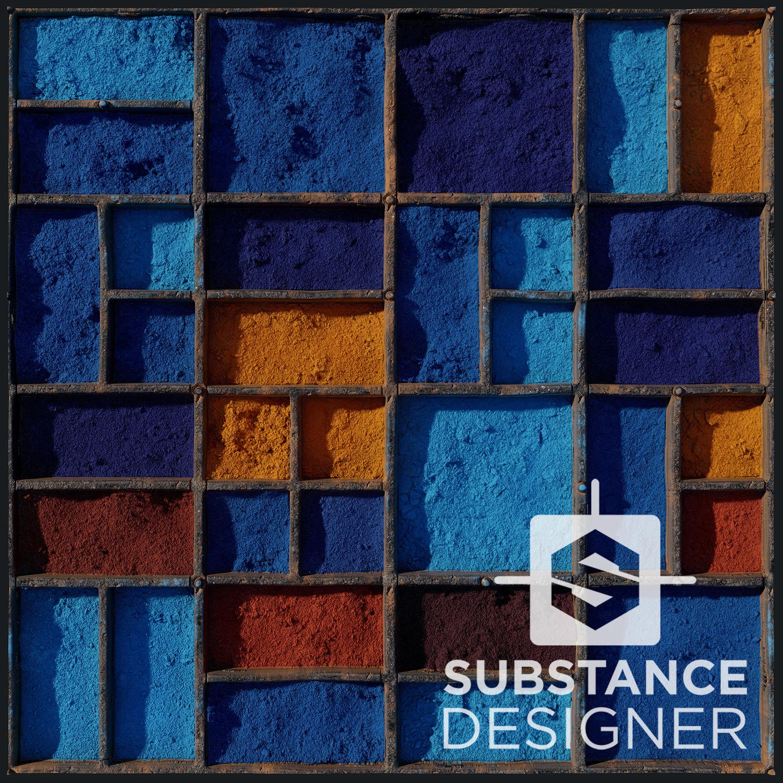 Color Dyes - 100% procedural, Substance Designer