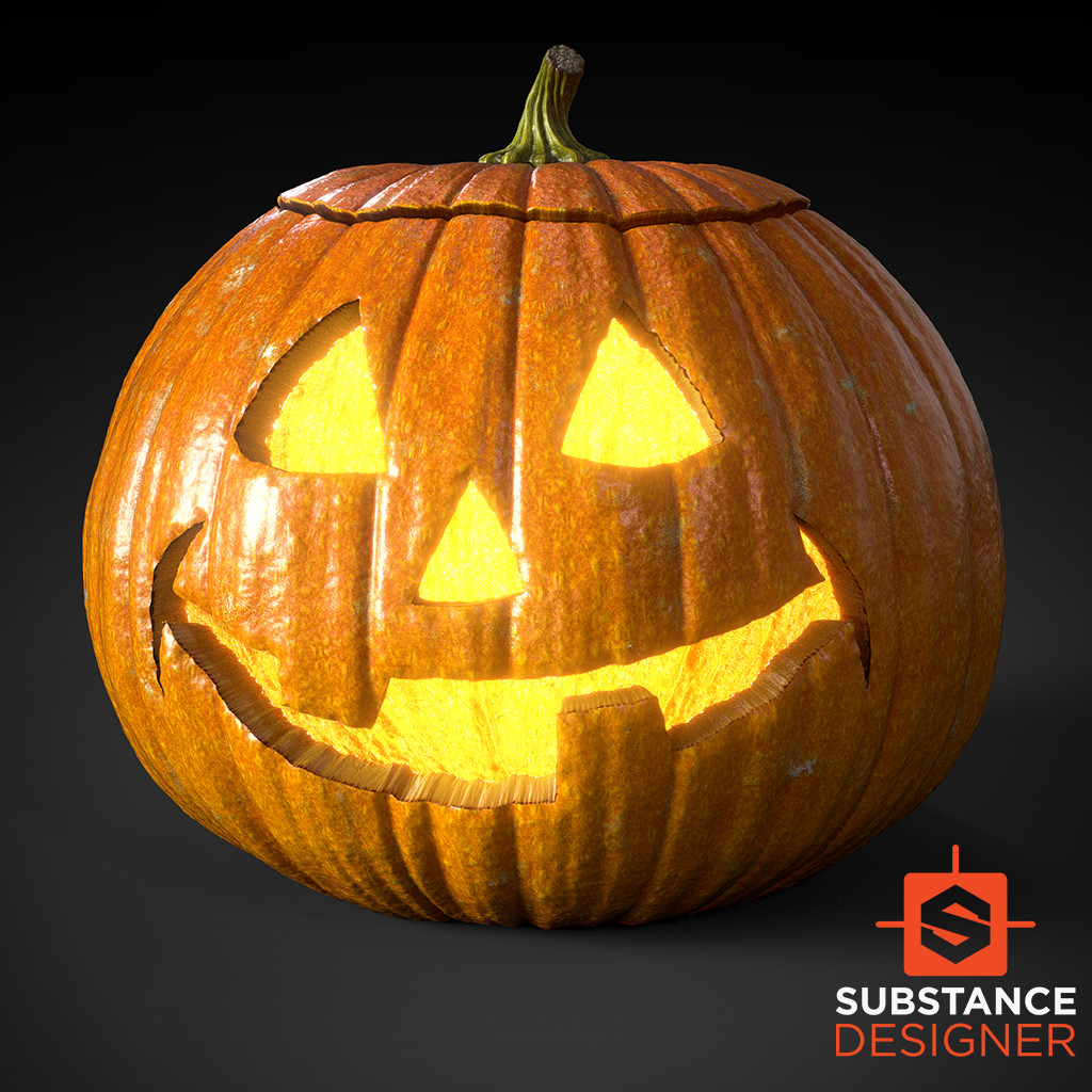 Halloween Jack-O'-Lanterns - 100% Substance Designer