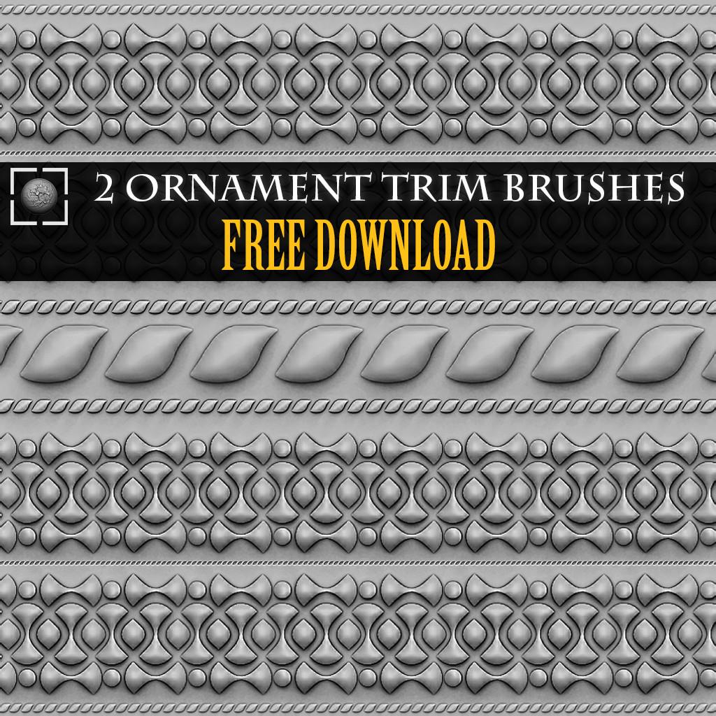 ArtStation - Ornament Trim Brushes - Free Download