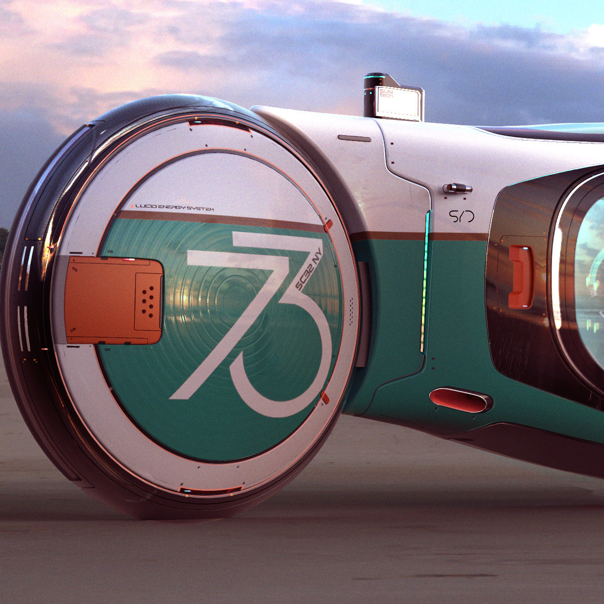 Two Wheeled Autonomous Vehicle - Homage to Syd Mead