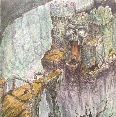 Castle Grayskull Environment Concept From My Sketchbook