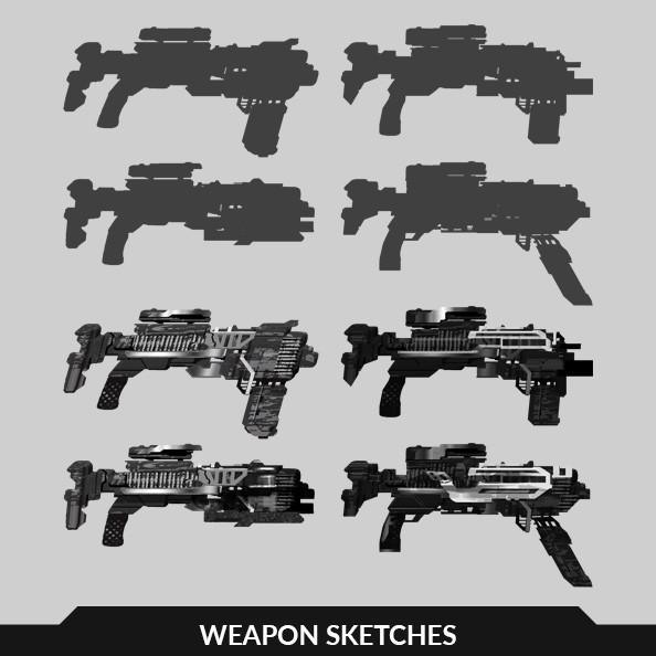 Futuristic Weapon sketches