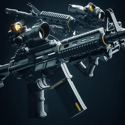 Wanoco 4d gun assaultrifle m4a1 60