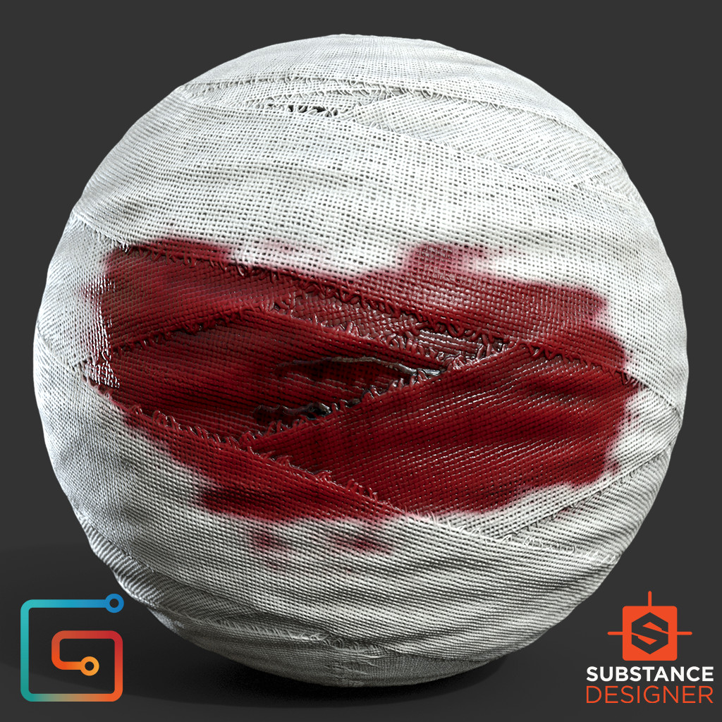 Bloodied Bandages - 100% Substance Designer