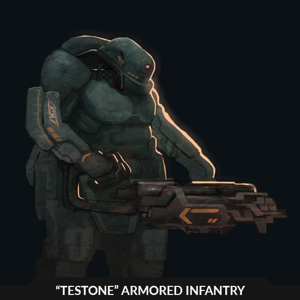 """TESTONE"" Armored Infantry - character sketch"
