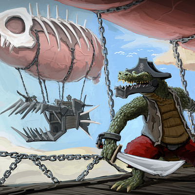 Arthur lorenz croc pirates in the sky by handclaw db84i5b