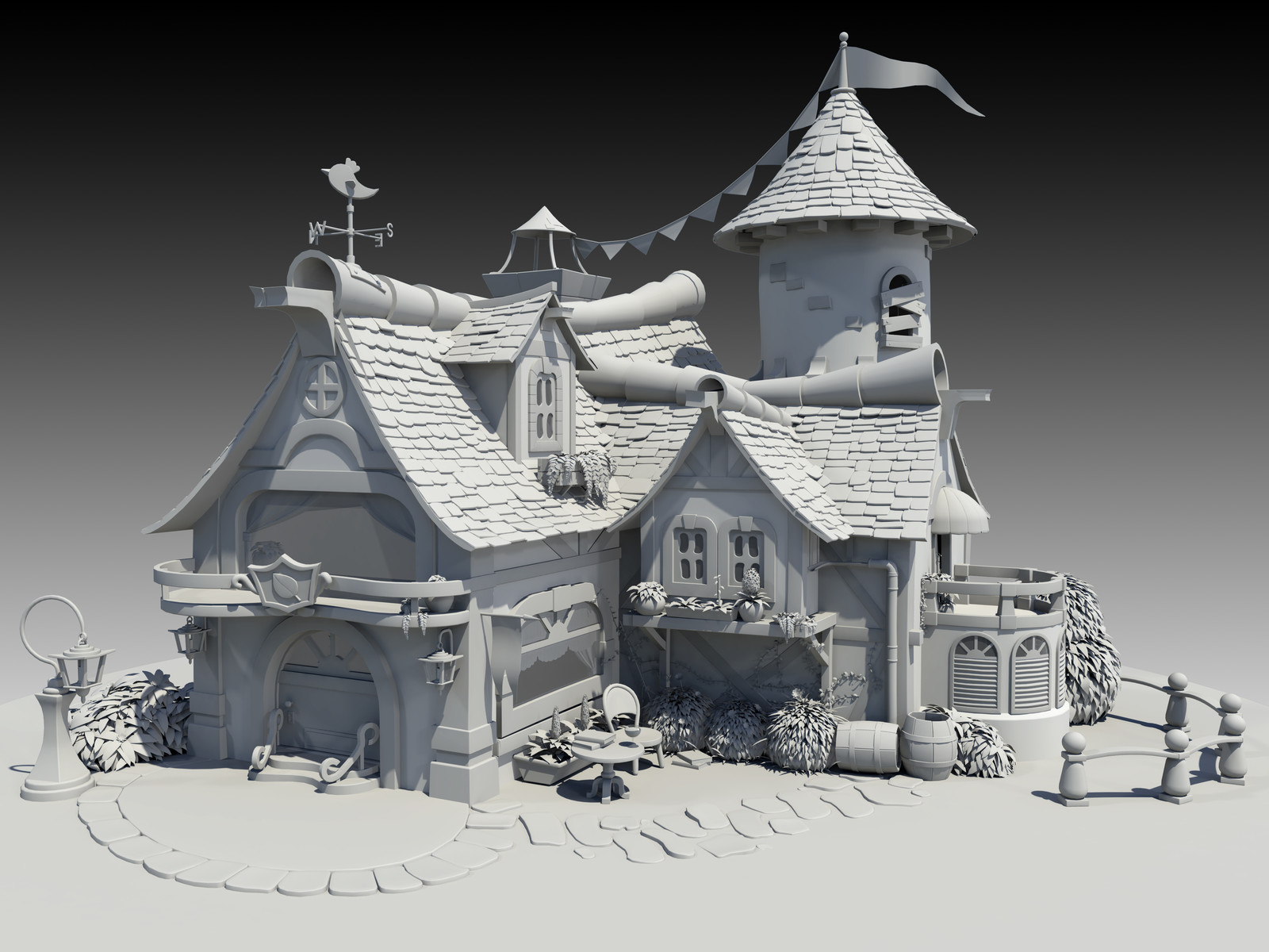Cottage Model - WIP