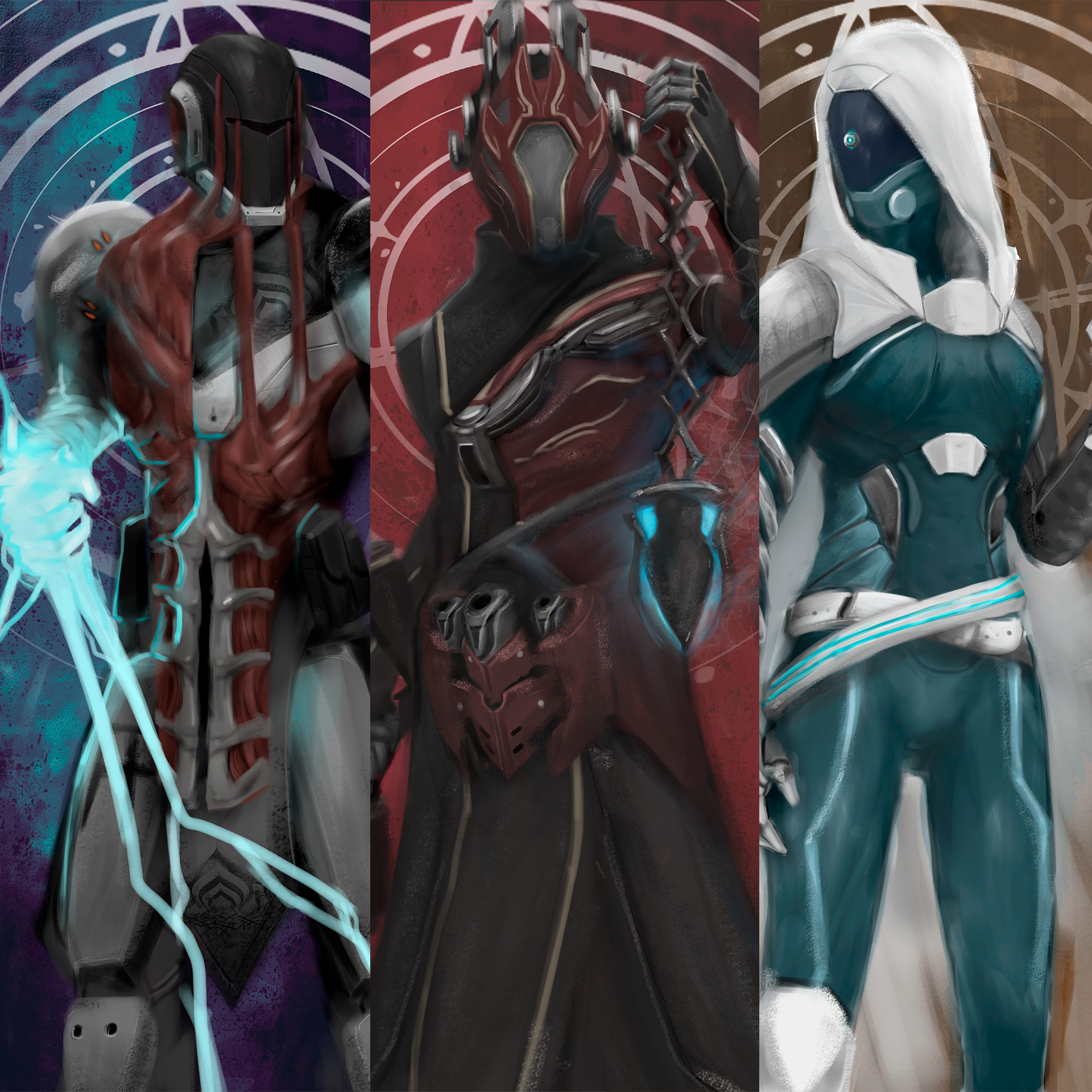 ArtStation - Warframe x Destiny , Enrique Shieh