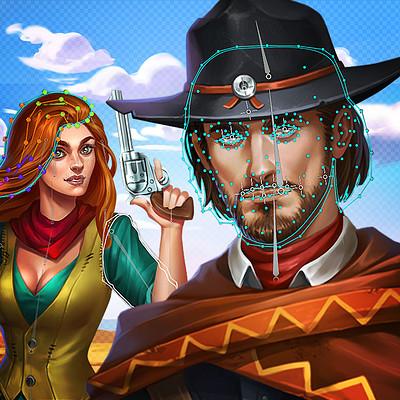 Retrostyle games west slots icons arstation image