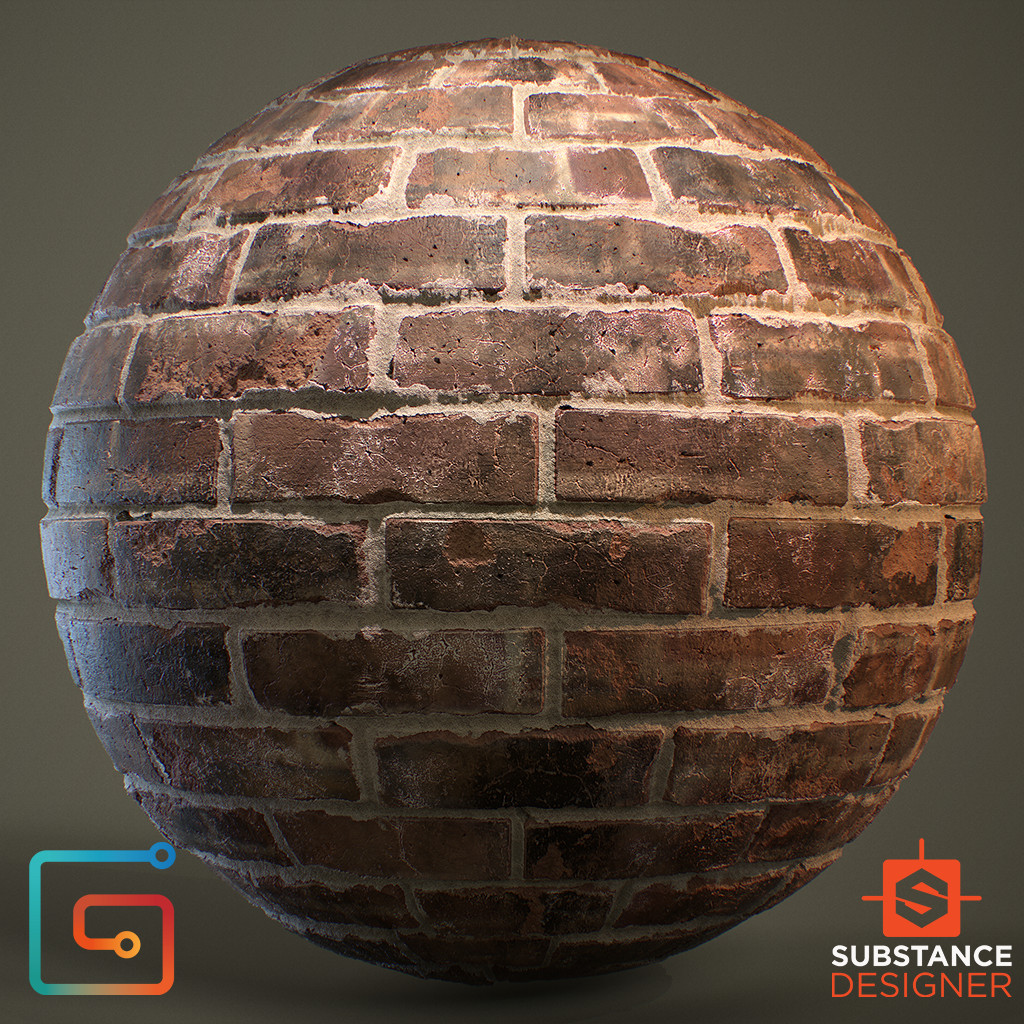 Bricks - 100% Substance Designer