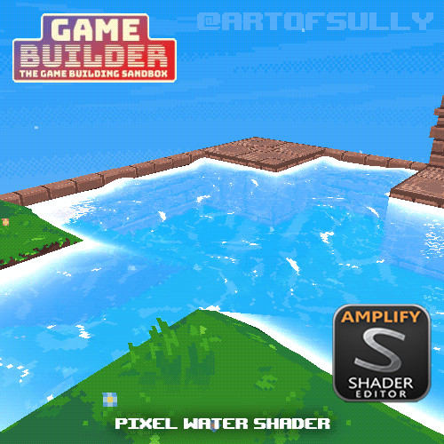 Pixel Water Shader (asset for 'Game Builder')
