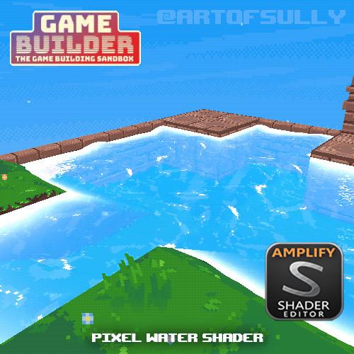 Pixel Water Shader (asset for 'Game Builder')