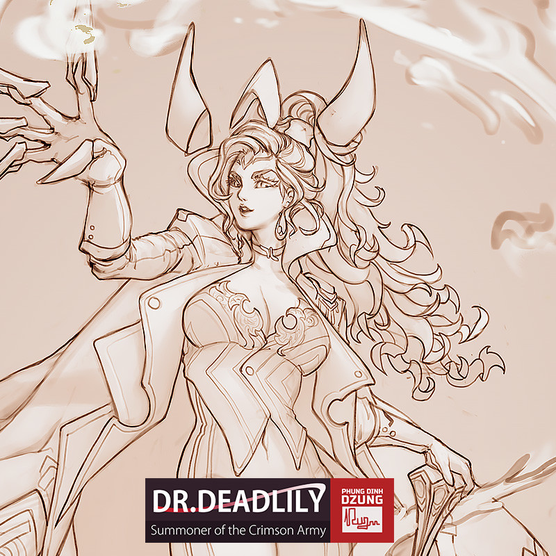 Dr.DeadLily Lineart Concept