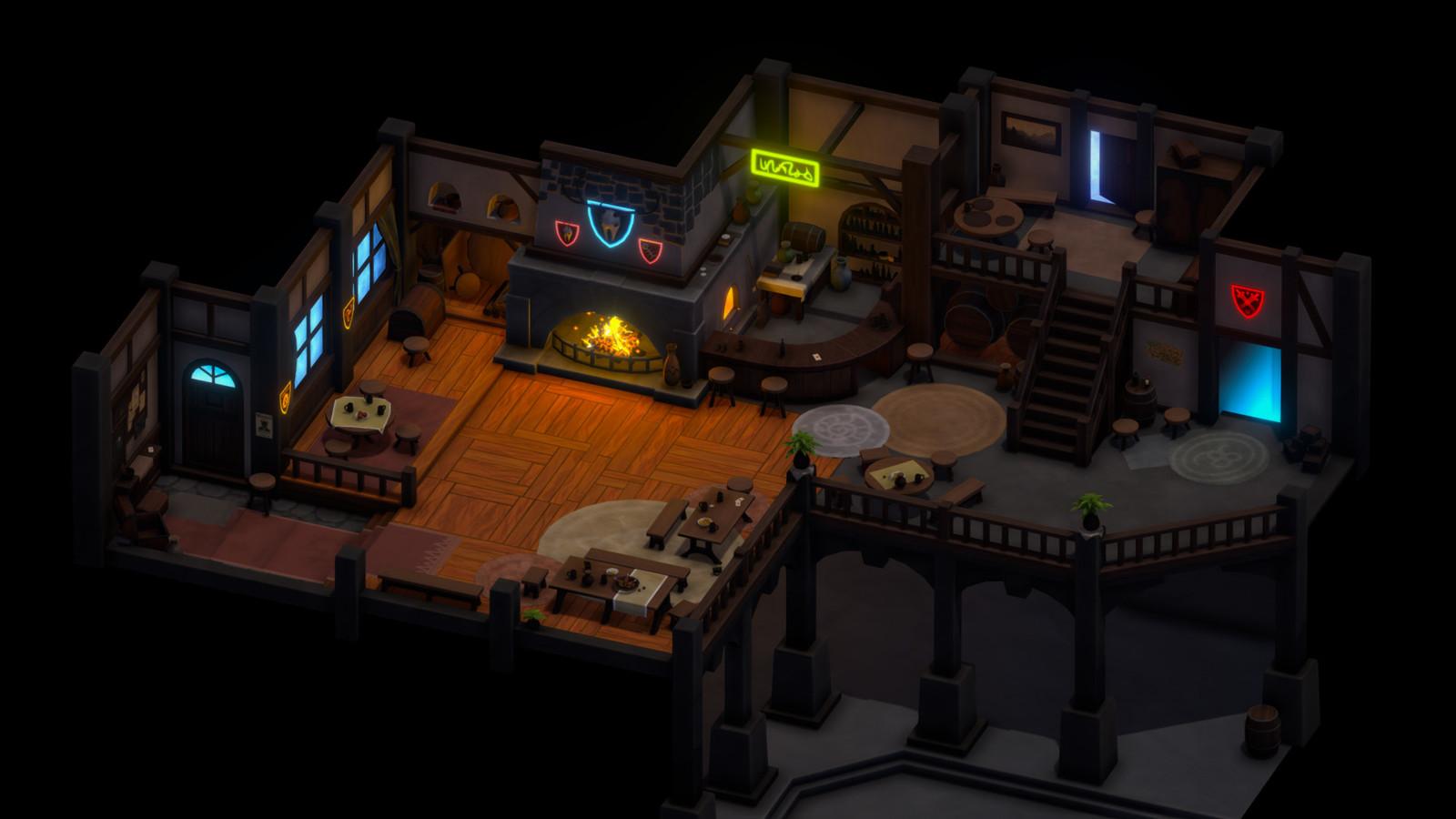 X Inn Interior 3D
