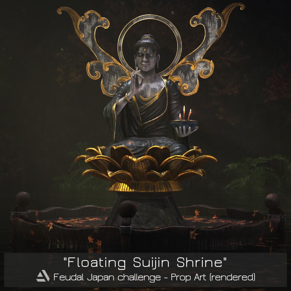 Floating Suijin Shrine - Artstation Feudal Japan challenge