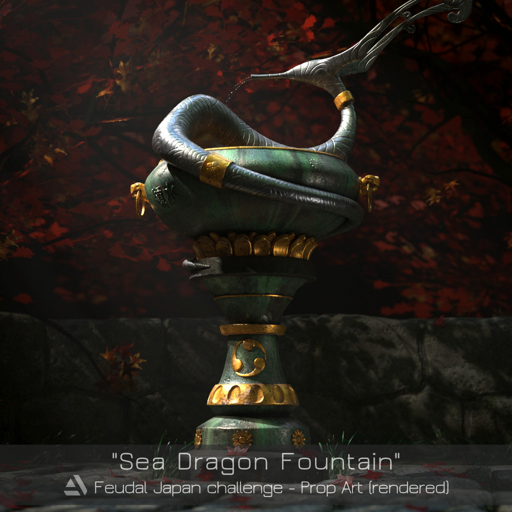 Sea Dragon Fountain (Feudal Japan challenge)