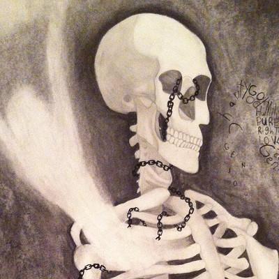 Mariah lindburg skeleton close up