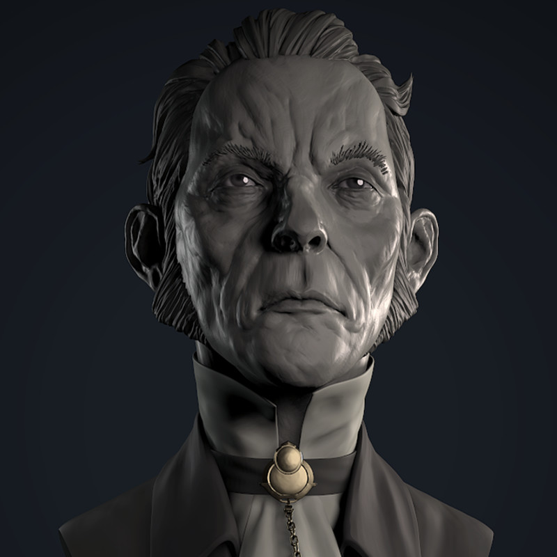 Samuel Bust - Dishonored Fan Art