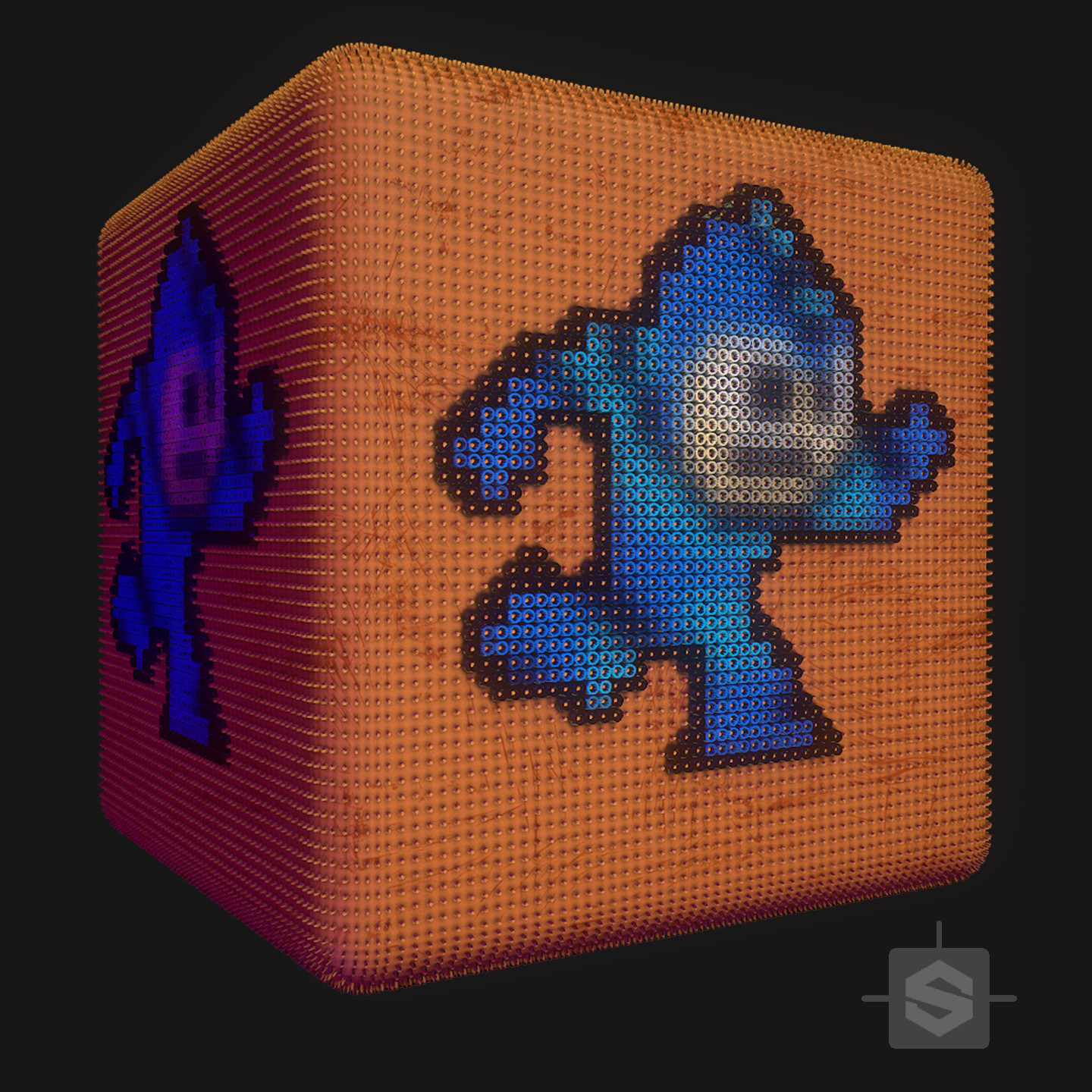 Substance Designer - Perler Bead Peg Board