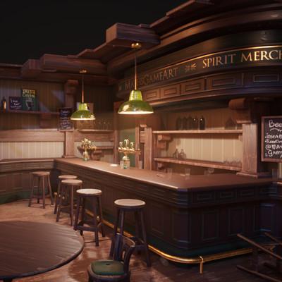 Irish pub - PBR interior diorama