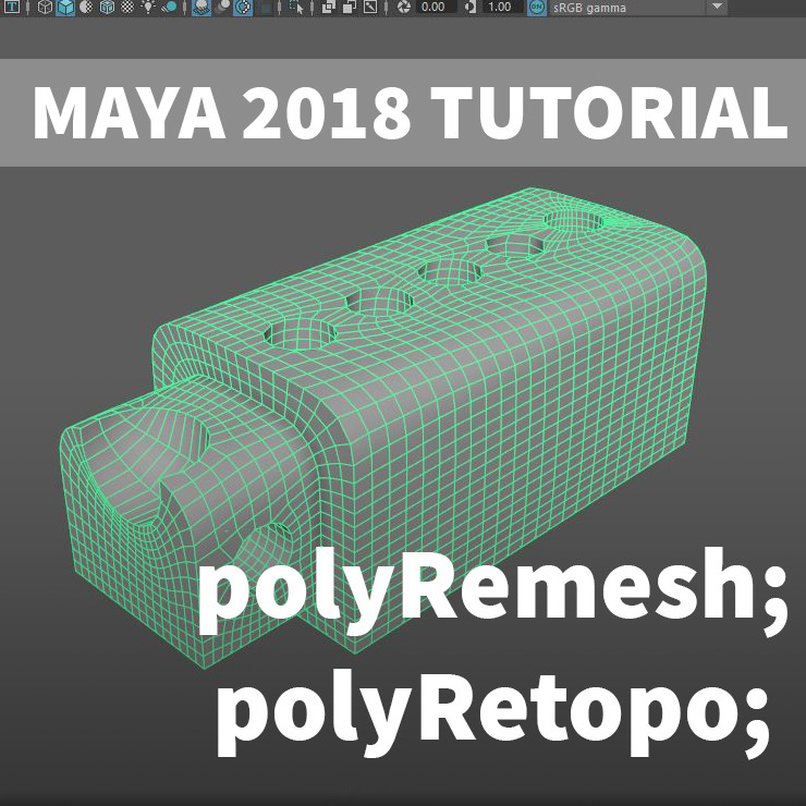 ArtStation - Maya Tutorial - polyRemesh and polyRetopo