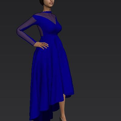 Victoria jimoh blue dresss