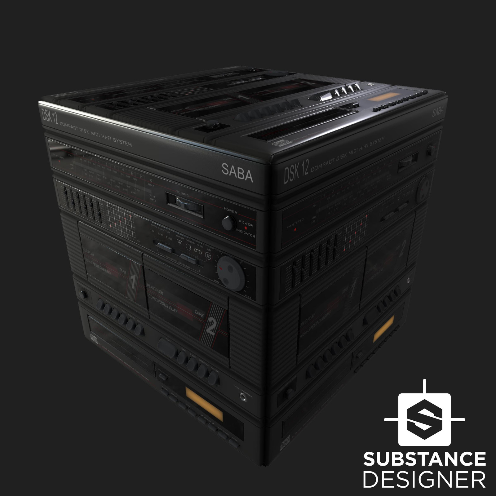 Substance Designer - SABA Midi Hi-Fi System